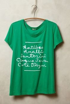 t.la Afternoon Abroad #Tee #anthrofave #anthropologie