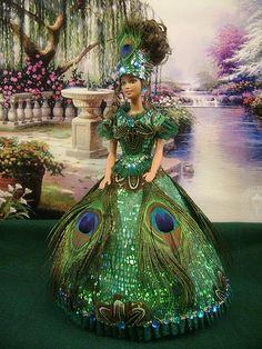 "Barbie ""Lady Peacock"" by barbiebackintime"