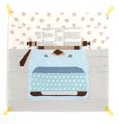 foundation paper piecing: old type writer mini quilt block