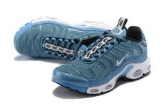 9beb9374c4 Hot Selling Nike Air Max Plus SE Blue White Black Men's Running Shoes Nike  Air Max