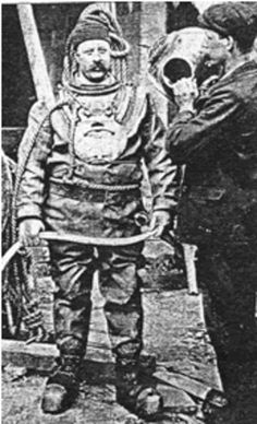 William Walker, a diver who worked tirelessly to shore up the historic foundations of Winchester Cathedral, 1905.