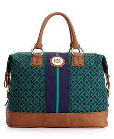 Tommy Hilfiger Handbag, Signature Jacquard Logo Bowler