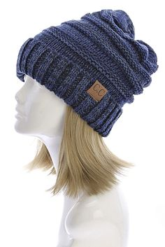 CC Slouchy Beanie in Navy – Sweater Weather Co.