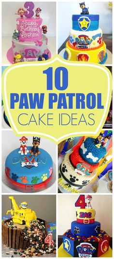If you're planning a Paw Patrol party, here are 10 Perfect Paw Patrol Birthday Cakes that will inspire you for your child's puppy-themed party. There's birthday cake ideas for a boy or a girl. Plus, learn how to make a Paw Patrol cake yourself at home. Paw Patrol Birthday Decorations, Paw Patrol Birthday Cake, Paw Patrol Party, Paw Patrol Cupcakes, Rubble Paw Patrol Cake, 4th Birthday Parties, Baby Birthday, Birthday Ideas, Birthday Cakes For Kids
