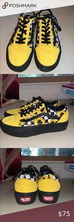 19 Best Sunflower vans images   Me too shoes, Sock shoes, Vans