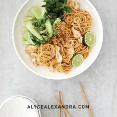 Peanut Chicken Noodles - Quick Dinners