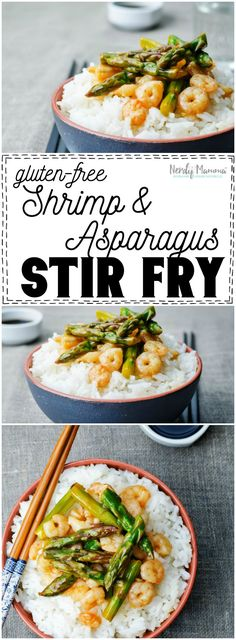 I absolutely LOVE this recipe for gluten-free shrimp stir fry with asparagus. So… (asain food gluten free) Gf Recipes, Easy Healthy Recipes, Gluten Free Recipes, Asian Recipes, Easy Meals, Cooking Recipes, Cooking Ideas, Healthy Meals, Delicious Recipes