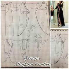 Gnader Sewing Aprons, Dress Sewing Patterns, Blouse Patterns, Clothing Patterns, Abaya Pattern, Refashion Dress, Estilo Retro, Dress Tutorials, Pattern Drafting