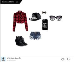 Blk and red checker boarder