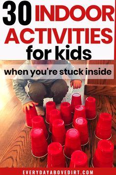 Indoor Toddler Activities - Easy indoor activities are great for those days when you're stuck inside or on rainy and snowy da - Physical Activities For Toddlers, Preschool Learning Activities, Games For Toddlers, Indoor Activities For Kids, Infant Activities, Family Activities, Easy Games For Kids, Movement Activities, Kids Fun