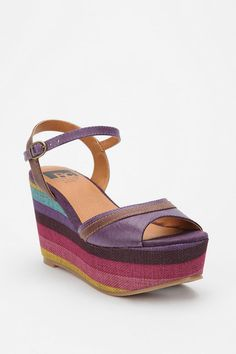 """Over The Rainbow"" multicolor wedge heels from BC Footwear."