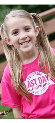 lots of fun Last Day of School Ideas, including making an autograph shirt -  ~ Sugar Bee Crafts