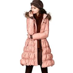 Artka Women's Winter Fur-trimmed Hood 90% Duck Down Filled Belted Coat YK15449D   Artka Women's Winter Fur-trimmed Hood 90% Duck Down Filled Belted Coat YK15449D  Details:   1.The SIZE of our brand is sort of SMALLER than the standard size, please be careful and see the detailed description. This item does not include any accessories.   2.Style: Romantic / Feminine / Warm   3.Stand collar / Raccoon fur trimmed hoodie / Flap design / Self-belted / Zipper closure / Puff hem / Side pock..