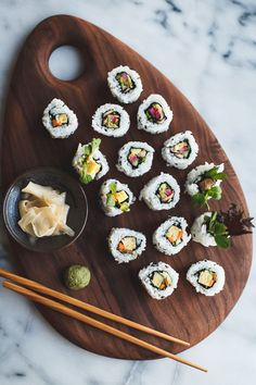Roll out the fun with a delicious sushi station at your wedding reception.