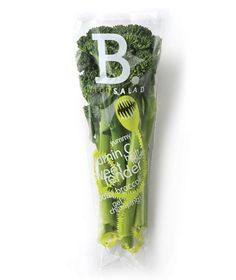 baby broccoli packaging - black squid design