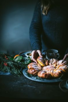 Saffron Star Bread | Adventures in Cooking An easy and beautiful recipe for saffron star bread with a how to tutorial video. This dessert pastry is perfect for the holiday season! #saffron #starbread #saffronbread #dessert #holiday #holidayseason #adventuresincooking