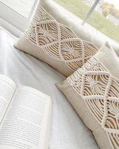 Macrame Design, Macrame Art, Macrame Projects, Macrame Tutorial, Perfect Pillow, Cushion Covers, Handmade Art, Fiber Art, Tassel