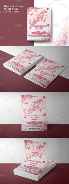 Invitation Flyer, Invitations, Womens Month, Club Design, Women In History, Flyer Template, Custom Design, Templates, Creative