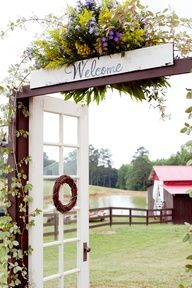 out door wedding entrance - Google Search