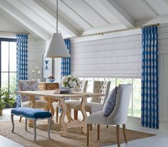 Love the farmhouse interior design but not quite sure what to do with your window treatments? Check out our Hunter Douglas Design Studio Side Panel Window Treatments!