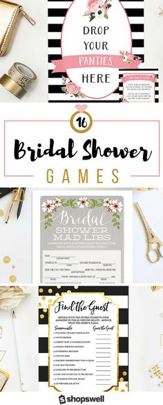 Tired of lame bridal shower games? These 16 party games are fabulous ice-breakers and downright hilarious. Click-through to see the bridal shower party collection now!