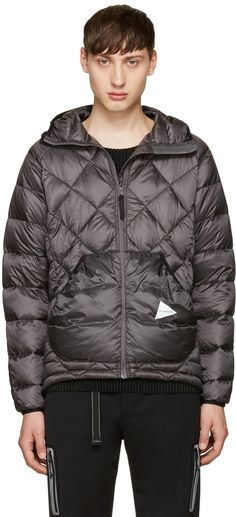 and Wander - Grey Diamond Stitch Down Jacket