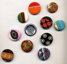 Vintage scarf buttons