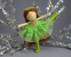 Ballerina Bendy Doll by Princess NimbleThimble by PNTdolls on Etsy