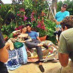 #DavidGandy & #BiancaBalti today in Miami for D&G #LightBlue || 09/07/15