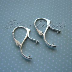 .925 Sterling Silver Leverback Earwire Lever Back Ear Wire 15mm X 10mm Findings//Bright