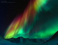 Symphony of Northern Lights.  Atigun Pass-Dalton Highway, Alaska.  by Tom Charoensinphon.
