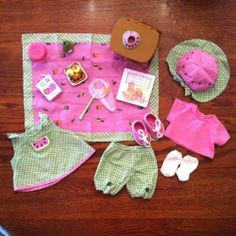 American Girl Bitty Baby Summer Picnic Outfit Set in Original Box Retired Summer Picnic, Summer Baby, Baby Doll Clothes, Baby Dolls, Twin Babies, Twins, Picnic Outfits, Bitty Baby, Mermaids