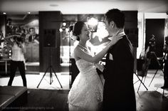 Wedded couple first dance