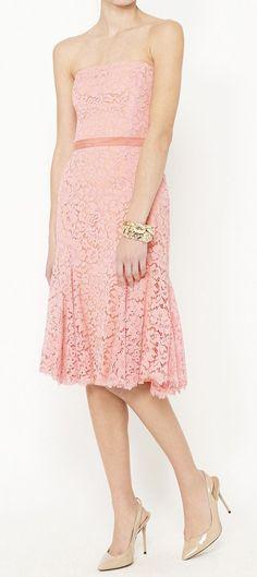 Monique Lhuillier Coral Dress