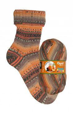 Opal: Saftige Karotte - selvstripende sokkegarn i oransje og brunt