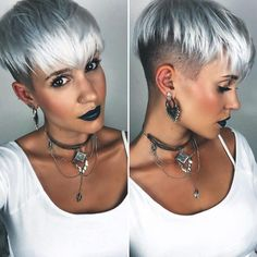 Stunning Silver Bowl Hairstyle