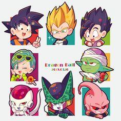 Dragon Ball, Goku, Vegeta, Gohan, Bulma and Piccolo. Chibi Goku, Haikyuu Chibi, Draw Chibi, Sasuke Chibi, Chibi Eyes, Chibi Hair, Deadpool Chibi, Spiderman Chibi, Batman Chibi
