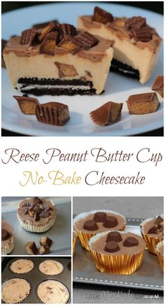 Reese Peanut Butter Cup No-Bake Cheesecake Recipe - this is one of the best desserts I've tried in a while!