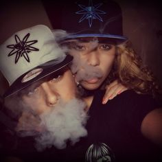 Cute couples smoking weed