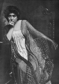 Vintage photo of unknown woman in dressing gown and assiut wrap.  Early 20th…