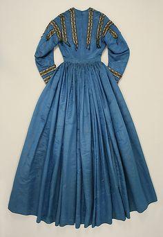 Dress back Date: ca. 1864 Culture: French (probably) Medium: silk