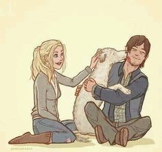 Adorable Daryl Dixon and Beth Greene (and Dooley the one eyed dog) fan art! Alone. TWD. The Walking Dead.