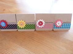 144.ミニミニBirthdayカード第2弾(作り方あり♪)   簡単手作りカード Chocolate Card Factory