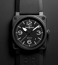Watch Of The Day!     The Bell & Ross Aviation BR 03-92 Matte Black.     Amazing watch and very unique for its square shape style.     Go visit their website:  www.bellross.com