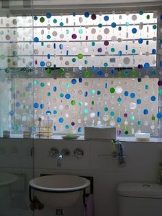 Bottle top bathroom curtain in plastics diy  with Curtain Caps Bottle