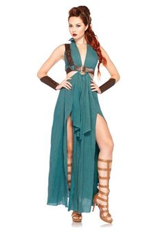 Lead your men into battle in this sexy Warrior Maiden Costume. Become the Greek goddess Artemis, or her Roman equivalent, Diana!