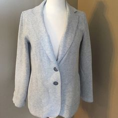 J Jill sweatshirt Blazer! J Jill sweatshirt blazer! So comfortable and soft! Grey with two buttons on the front! Excellent condition! J. Jill Jackets & Coats Blazers