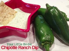 Chipotle Ranch Dip Recipe Need to make this one for next quilt group gathering.looks yummy! Dip Recipes, Appetizer Recipes, Appetizers, Creamy Jalapeno Dip, Chipotle Ranch, Ranch Dip, Little Birdie, Looks Yummy, Food Processor Recipes