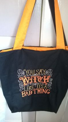 Embroidered Witch Tote Shopper Bag £16.99