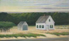 Reproduction de Hopper, October on cape Cod (Octobre au cap Cod). Tableau peint à la main dans nos ateliers. Peinture à l'huile sur toile.